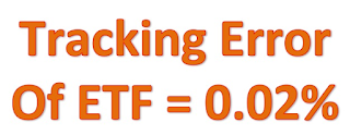"Picture shows the text ""Tracking Error of ETF = 0.02%"" in bright orange color"