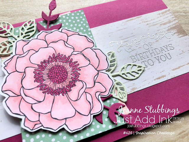 Jo's Stamping Spot - Just Add Ink Challenge #425 using Blended Bloom by Stampin' Up!