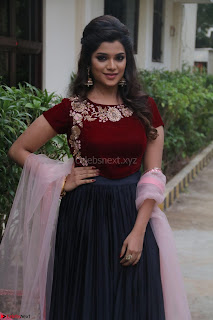 Actress Aathmika in lovely Maraoon Choli ¬  Exclusive Celebrities galleries 039.jpg