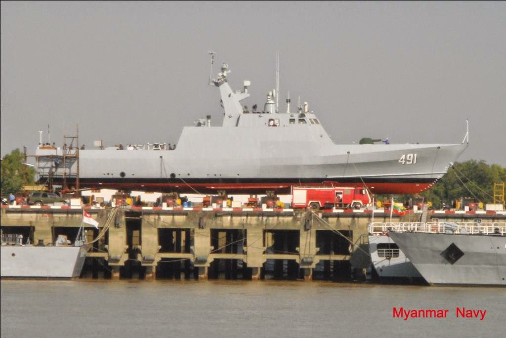 Cambodia Military Science Myanmar Navy Launches Stealth