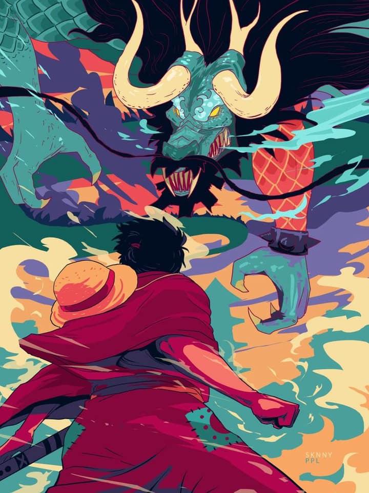 Luffy vs Kaido - One Piece Fan Art