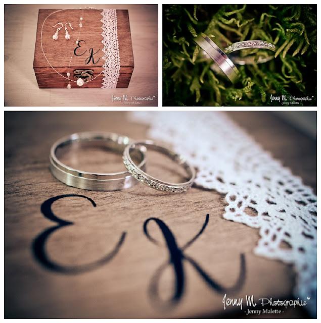 photos alliances, boite à alliances, bijoux de la mariée