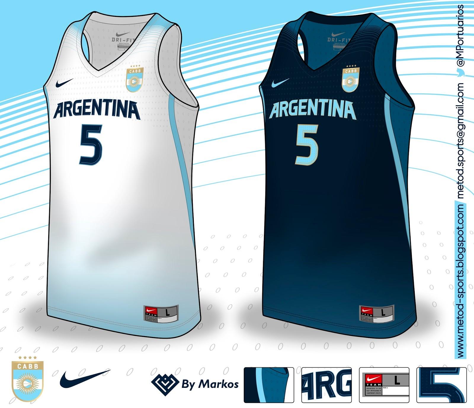 ff08ca6d8f8a4 Metod Sports  Argentina Basquet (C.A.B.B.) 2017 Nike (Real Fantasy)