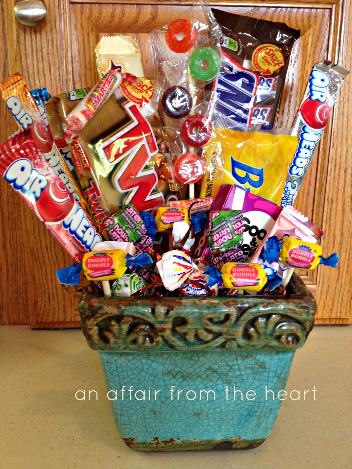 African Desserts 50th Birthday Candy Basket And Poem