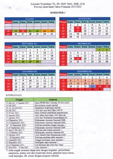 Kalender Pendidikan Provinsi Jawa Barat 2021-2022