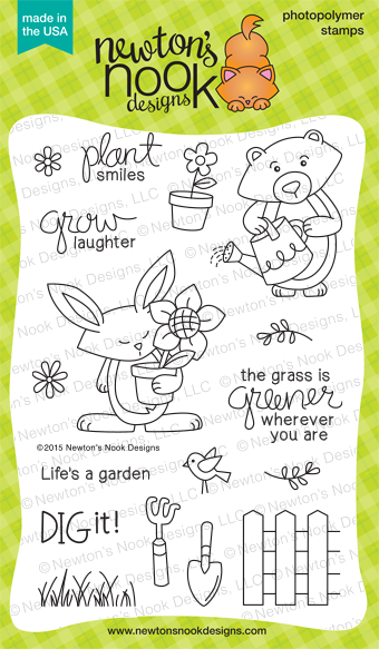 Garden Whimsy | 4x6 Photopolymer Stamp set by Newton's Nook Designs