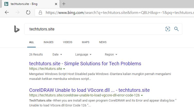 Cara Merubah Search Engine Microsoft Edge dari Bing menjadi Google