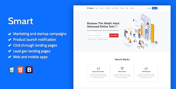 Best Marketing HTML Landing Page Template