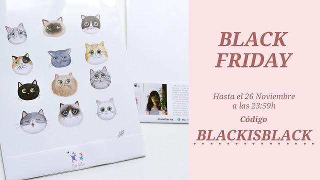 Black friday, Mar Villar, prints Mar Villar, descuento, prints ilustración, print ilustración, prints ilustrados, ilustración de gatos, dibujo de gatos, ilustración de gato bonita, caricatura de gato, retrato de gato,