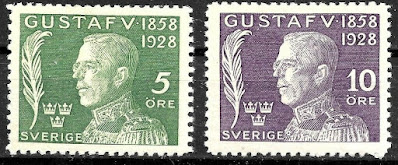 Sweden 1926 King Gustaf V Semi-postal Set