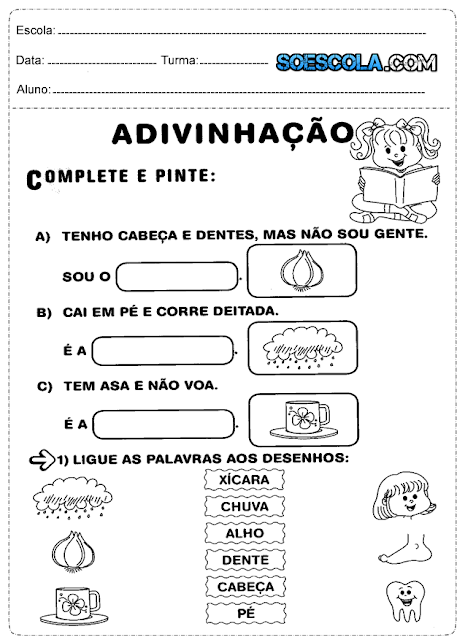 atividades para o 1º ano do ensino fundamental prontas para imprimir