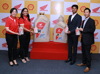 Honda 2Wheelers India and Shell Lubricants launch a new range of engine oil
