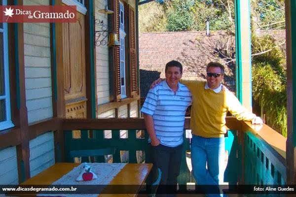 Nelson e eu no Castelinho Caracol - Canela/RS