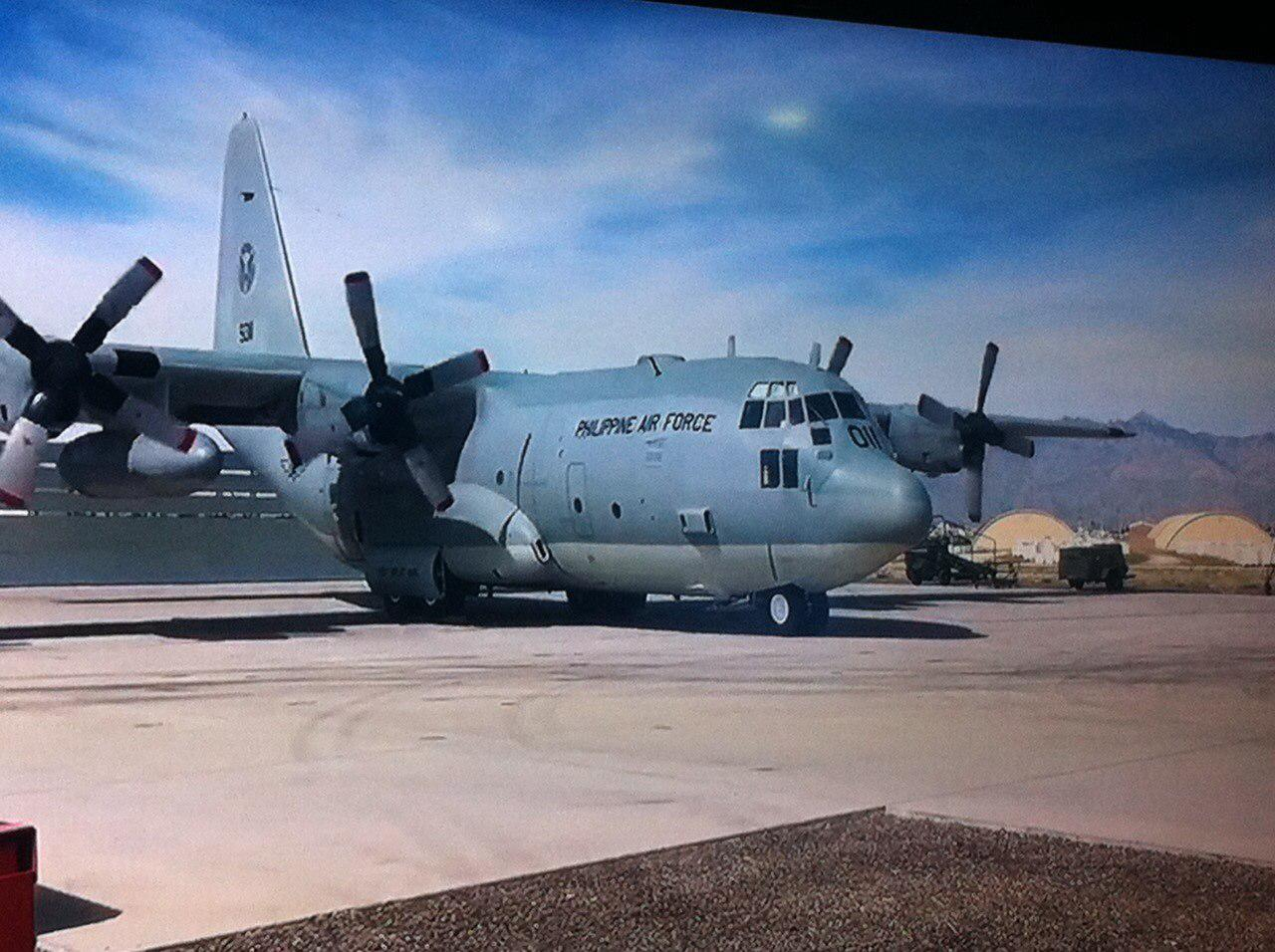 Philippine Air Force Outgoing Commanding General Lieutenant Jeffrey Delgado Stated That One Of The Two Refurbished C 130 Aircraft Amounting To