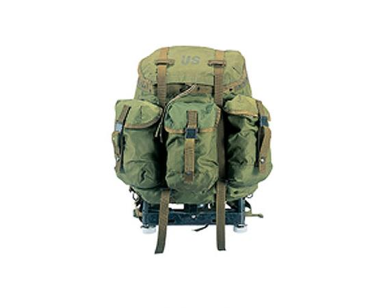 medium alice pack grade 2 are used alice packs complete with pack frame shoulder straps and kidney pad condition is fair to poor with small cuts