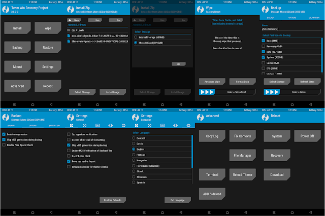 screenshot of TWRP 3.0.0-0 for samsung galaxy v SM-G313HZ