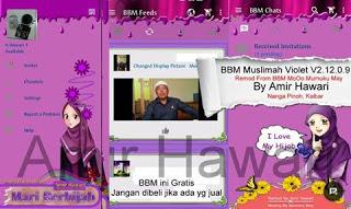 BBM Muslimah Violet V2.12.0.9