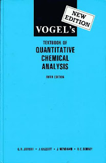 Vogel's Textbook of Quantitative Chemical Analysis - 5 th edition pdf free download