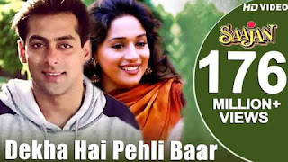 देखा है पहली Dekha Hai Pehli Baar Hindi Lyrics - Saajan