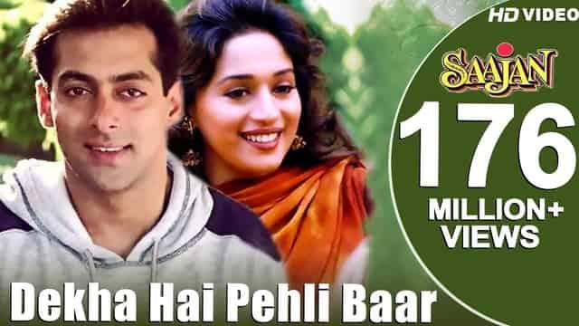 देखा है पहली Dekha Hai Pehli Baar Hindi Lyrics - Saajan