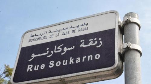 Jalan Soekarno di Rabat