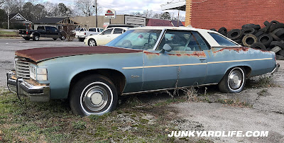 A greenhouse to envy or a home to sun worshippers? No, a 1976 Pontiac.
