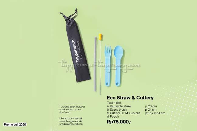 Sedotan, sendok dan garpu tupperware promo Juli 2020