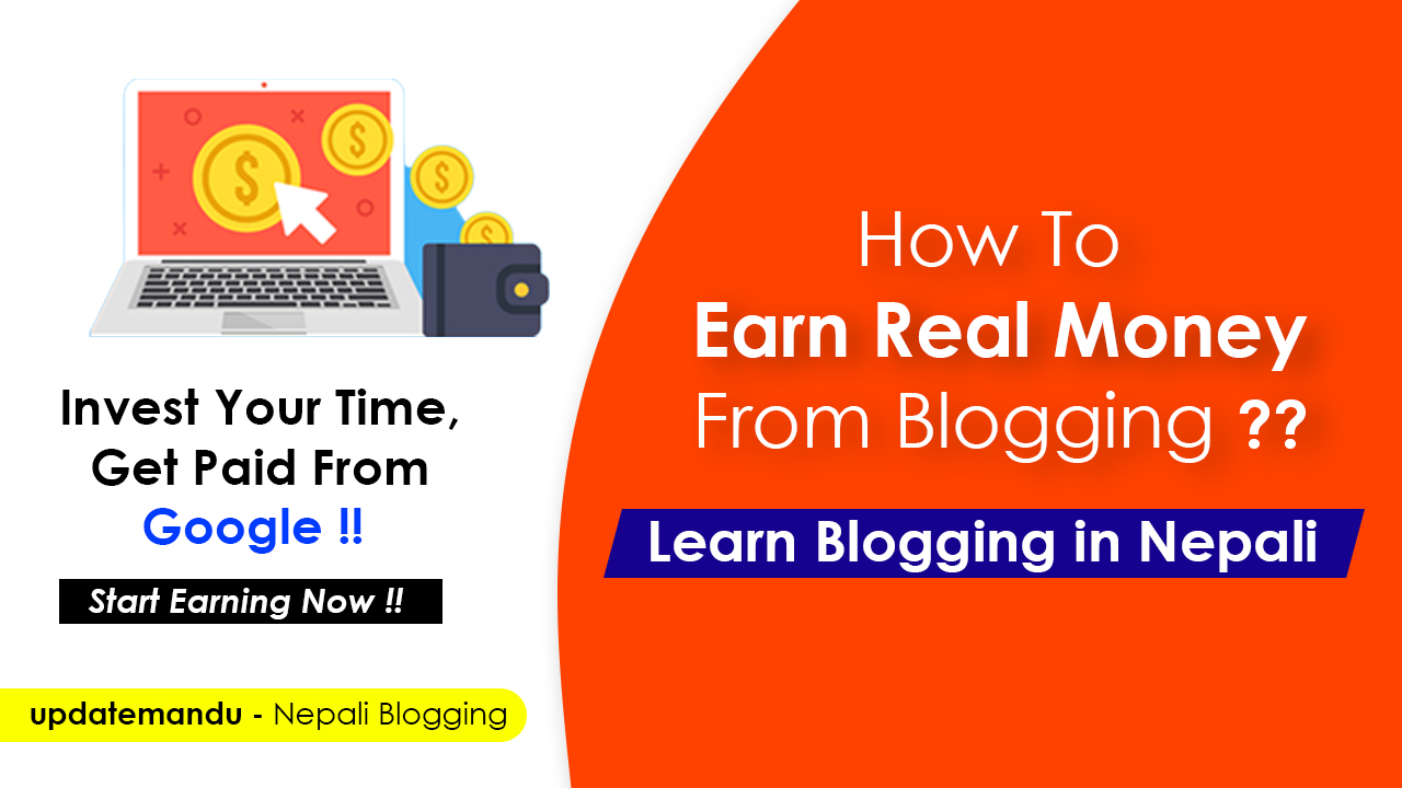 How To Earn Real Money From Blog in Nepal?