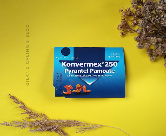 Konvermex 250 tablet obat cacing dewasa