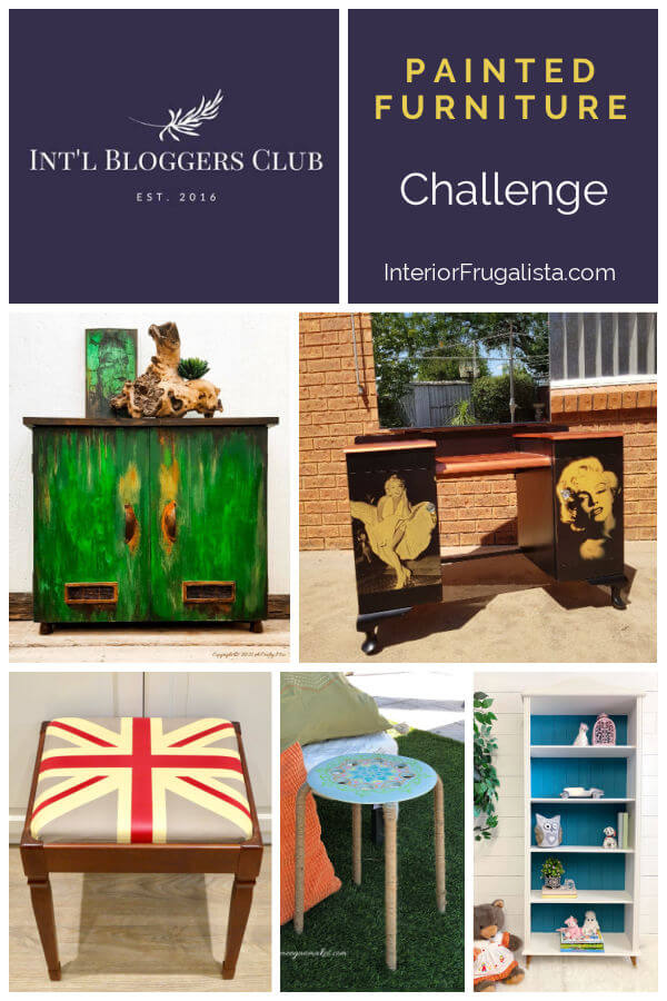 Painted Furniture Challenge for the talented members of the Int'l Bloggers Club