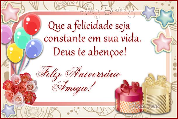 Mensagem Feliz Aniversario Amiga: Flores E Frases: FELIZ ANIVERSÁRIO AMIGA