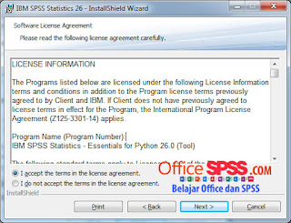 Cara Install IBM SPSS Statistic Versi 26 Terbaru 2020