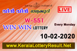 kerala lottery result, kerala lottery, kl result, yesterday lottery results, lotteries results, keralalotteries, kerala lottery, keralalotteryresult,  kerala lottery result live, kerala lottery today, kerala lottery result today, kerala lottery results today, today kerala lottery result, Win Win lottery results, kerala lottery result today Win Win, Win Win lottery result, kerala lottery result Win Win today, kerala lottery Win Win today result, Win Win kerala lottery result, live Win Win lottery W-551, kerala lottery result 10.02.2020 Win Win W 551 Febraury 2020 result, 10 02 2020, kerala lottery result 10-02-2020, Win Win lottery W 551results 10-02-2020, 10/02/2020 kerala lottery today result Win Win, 10/02/2020 Win Win lottery W-551, Win Win 10.02.2020, 10.02.2020 lottery results, kerala lottery result Febraury  2020, kerala lottery results 10th Febraury 2020, 10.02.2020 week W-551lottery result, 10-02.2020 Win Win W-551Lottery Result, 10-02-2020 kerala lottery results, 10-02-2020 kerala state lottery result, 10-02-2020 W-551, Kerala Win Win Lottery Result 10/02/2020, KeralaLotteryResult.net,