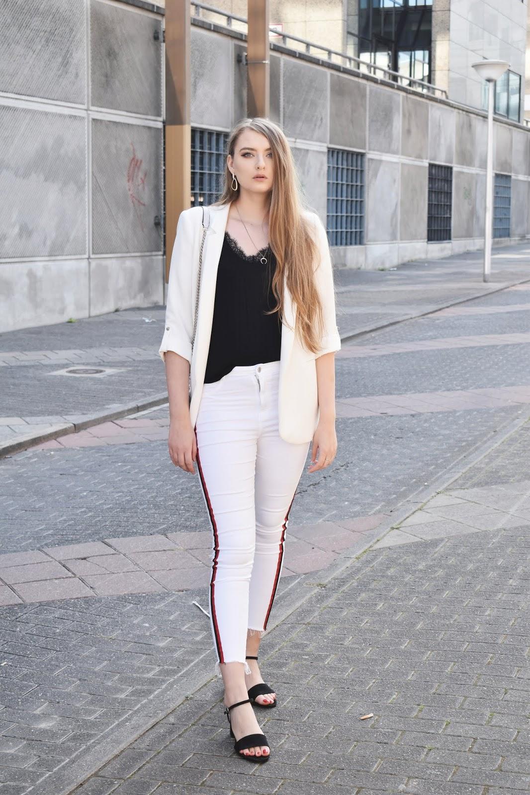 białe spodnie stylizacje eleganckie