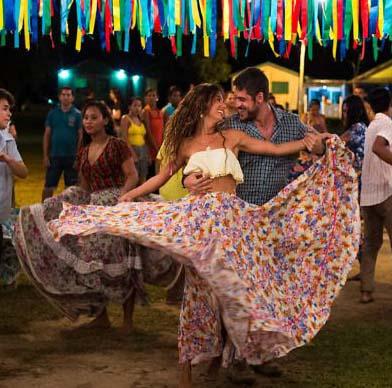 Cena da dança carimbó na novela