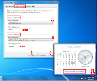 How to Set Multiple Time Zones in Windows PC,how to set time,how to set date,how to change time and date setting,windows 8,windows 7,windows 8,windows 8.1,3 time zone,multiple time zone,weather,time and date,set date and time,microsoft windows,clock,multiple clock change,time change,Change date and time setting,Additional Clocks,Show this clock,location time,US,india,saudi arabia,dubai,paris,new york,all time zone,world time zone,Computer