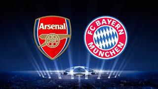 Arsenal vs Bayern Munich UCL Live Stream