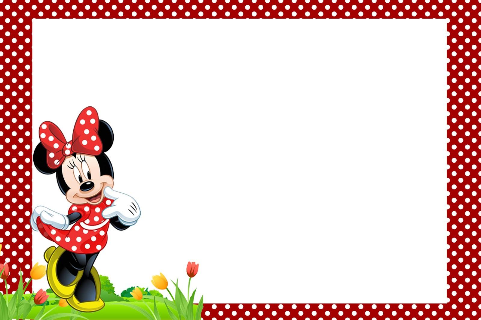 Kit Digital Gratis Para Imprimir Minnie Vermelha