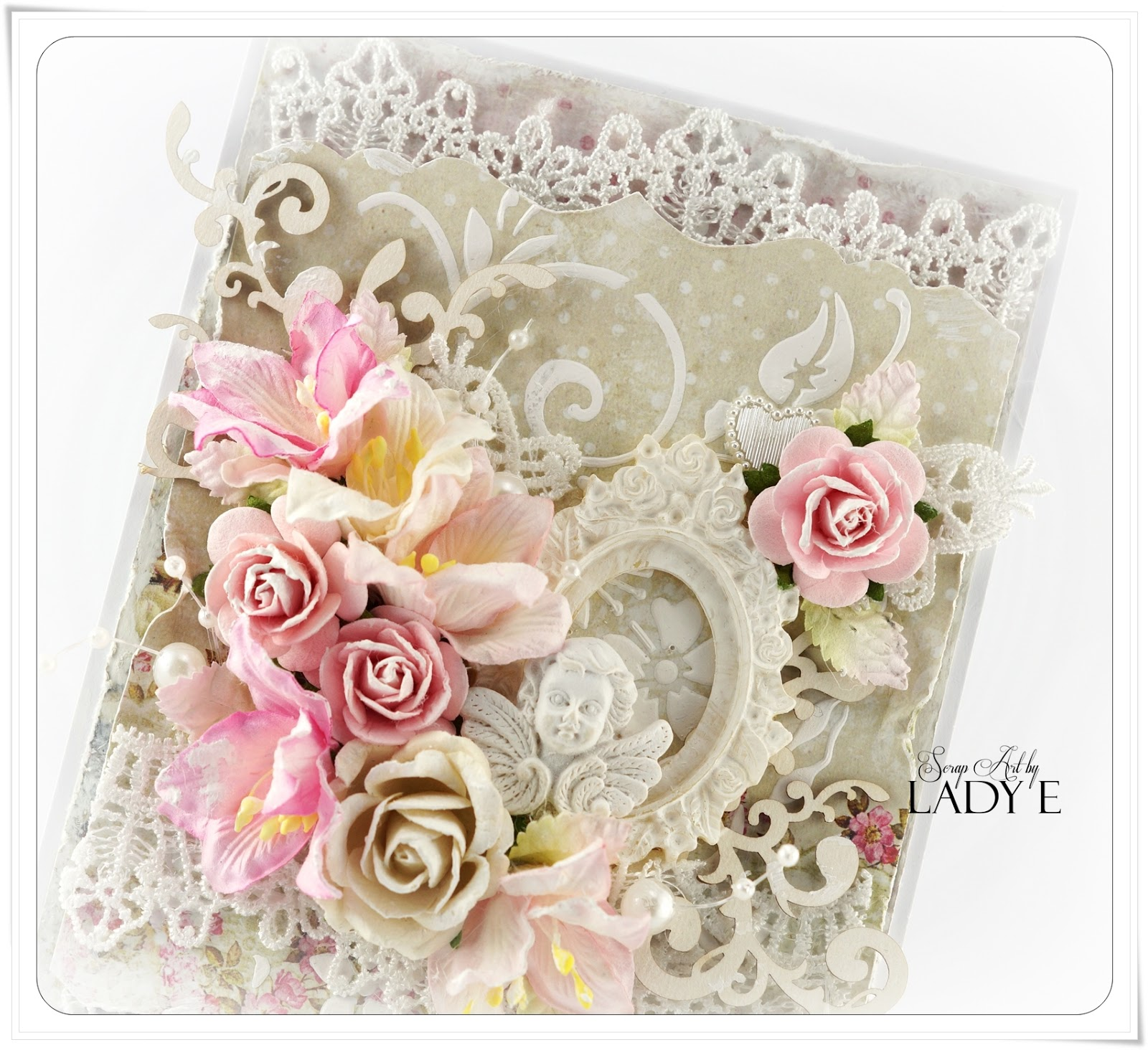 Wild Orchid Crafts: Shabby Chic Card again :)