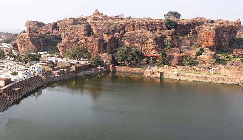 Badami cave temples - A Scenic Complex of Hindu and Jain Cave Temples