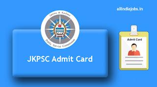 JKPSC Lecturer Admit Card