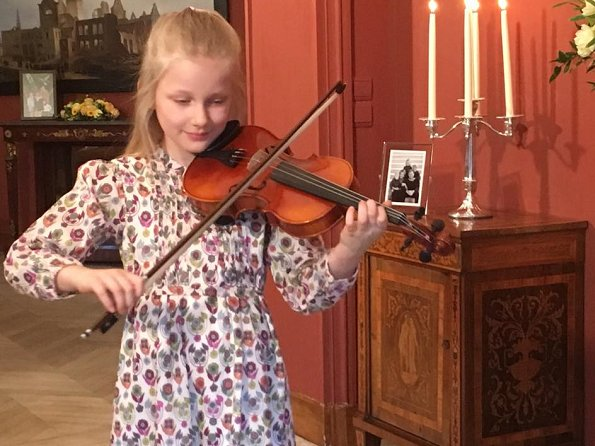 The Belgian Royal Court published on its social media accounts a video in which Princess Eleonore plays the Happy Birthday song with a violin for her father King Philippe as a Birthday Surprise