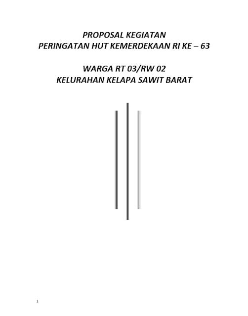 Cover Proposal 17 Agustus Terbaru