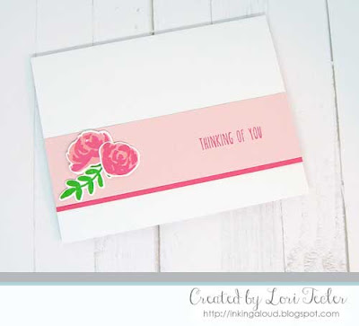 Thinking of You card-designed by Lori Tecler/Inking Aloud-stamps and dies from Altenew