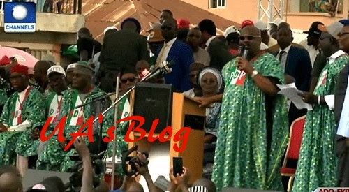 Atiku, Wike, Other Governors Storm PDP Governorship Rally In Ekiti (Photos+Video)