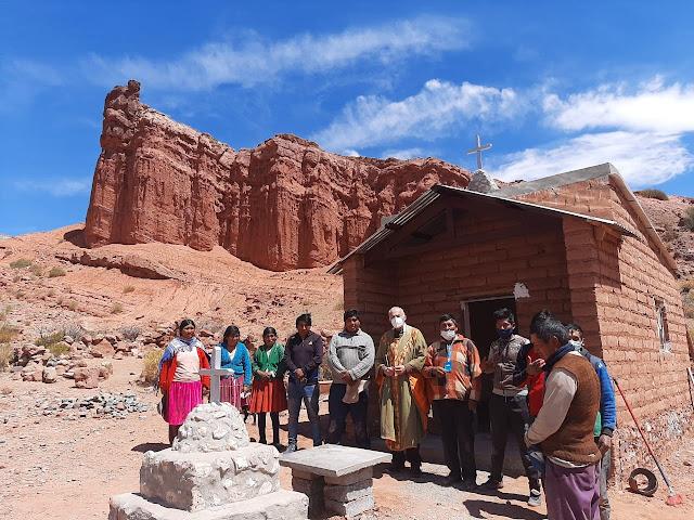 Cucho Huasi Die Kapelle ist landschaftlich sehr schön gelegen