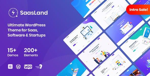 SaasLand v3.1.6 - MultiPurpose WordPress Theme for Saas & Startup