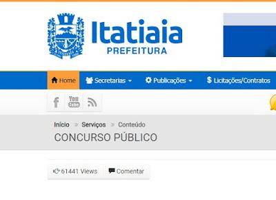 Concurso Itatiaia inscrições começam nesta segunda-feira 04