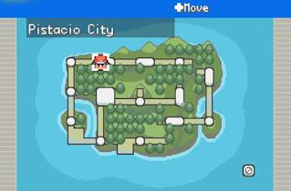 Pokemon Kairos para GBA Mapa Region Sierra
