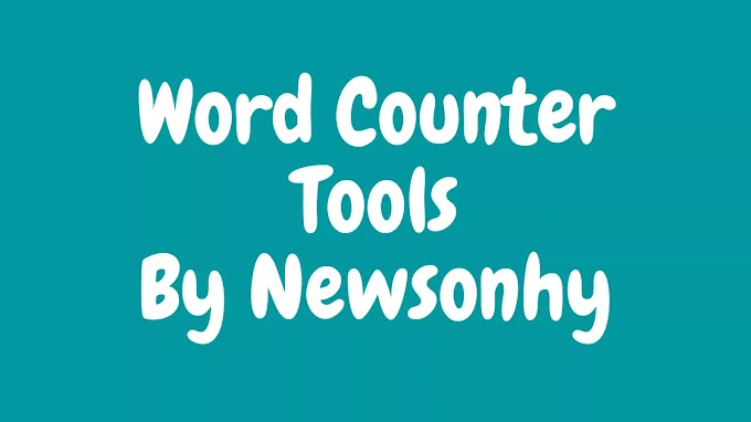 Word & Charactor Counter Best Tools for Seo Count Now  By Newsonhy
